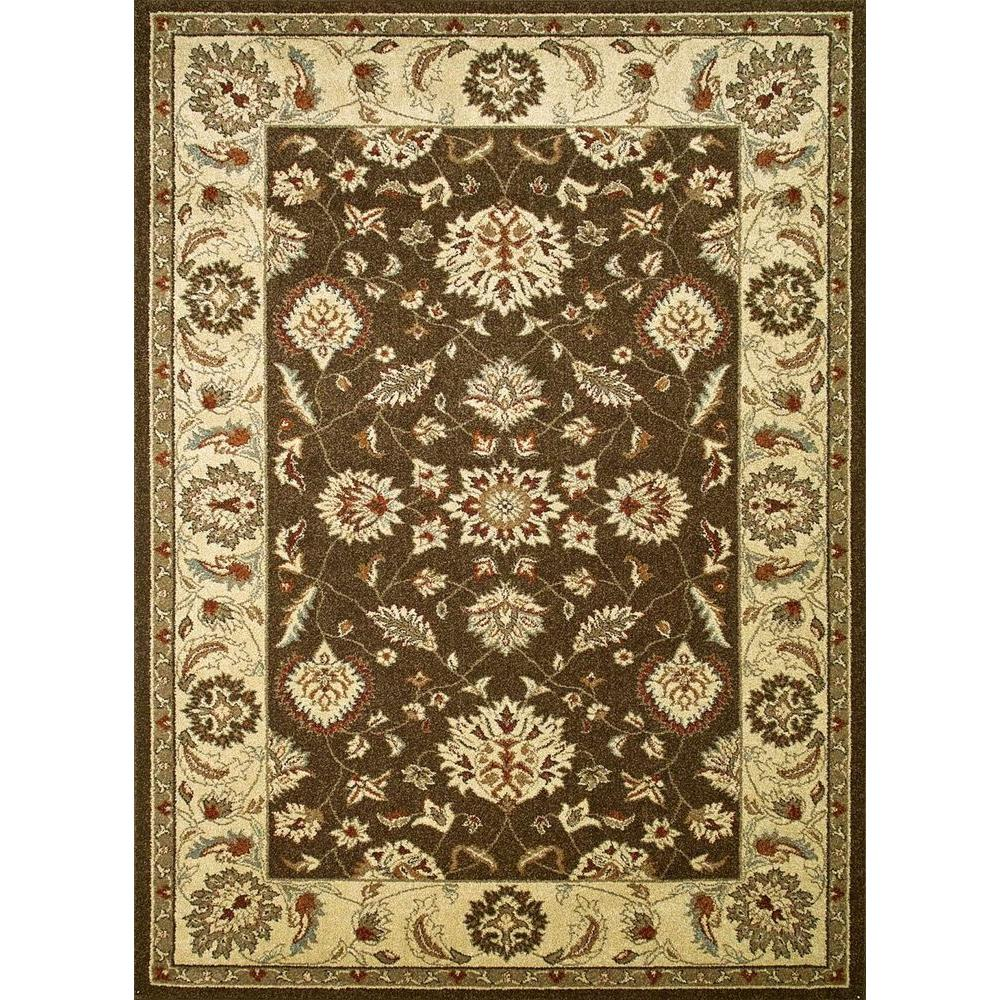 Concord Global Trading Chester Oushak Brown 3 ft. 3 in. x 4 ft. 7 in. Area Rug