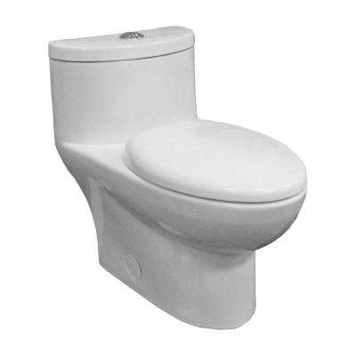 Tofino Complete 1-Piece 1.1 GPF Dual Flush Elongated Toilet in White with Slow Close Seat
