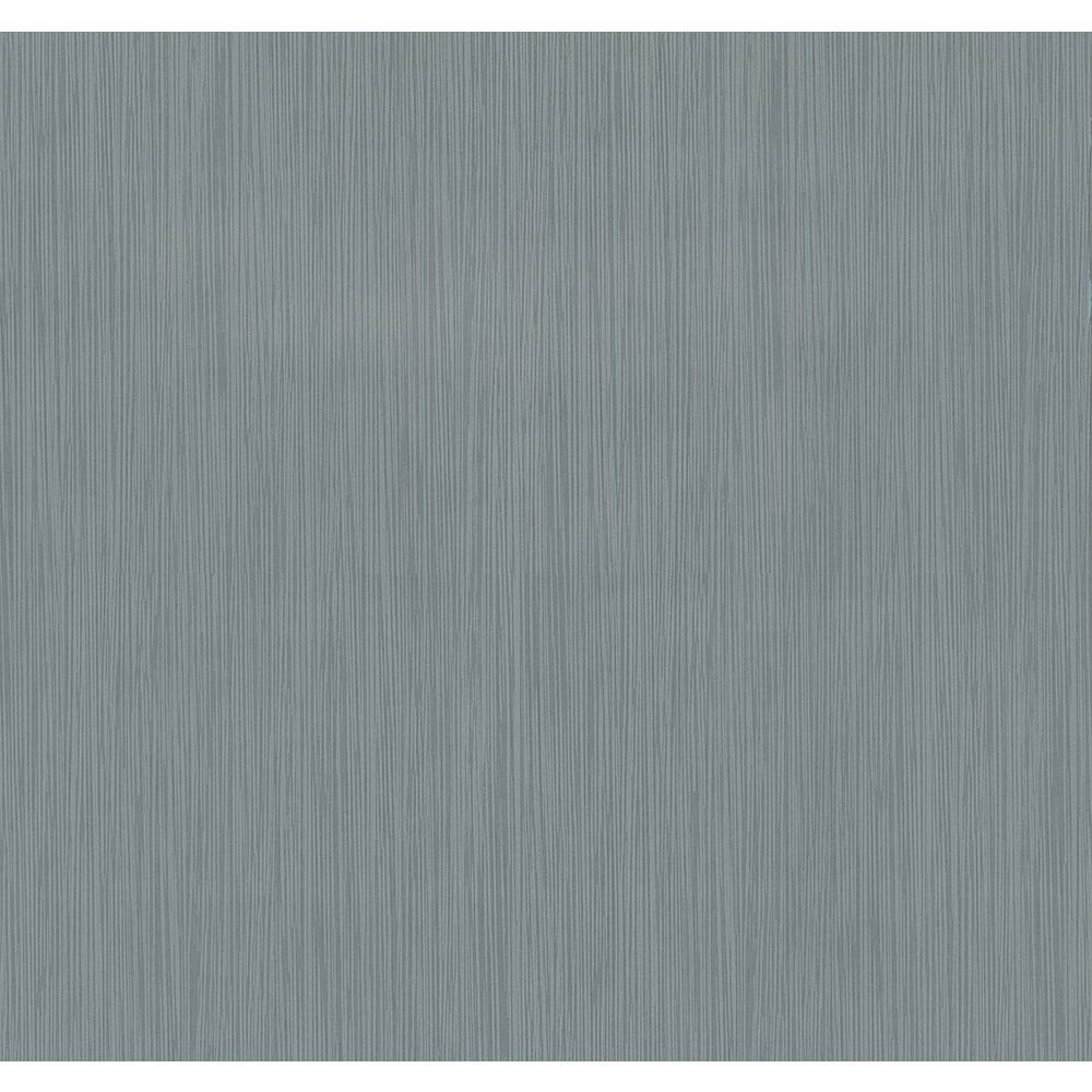 8 in. x 10 in. Ellington Slate Horizontal Striped Texture Wallpaper Sample