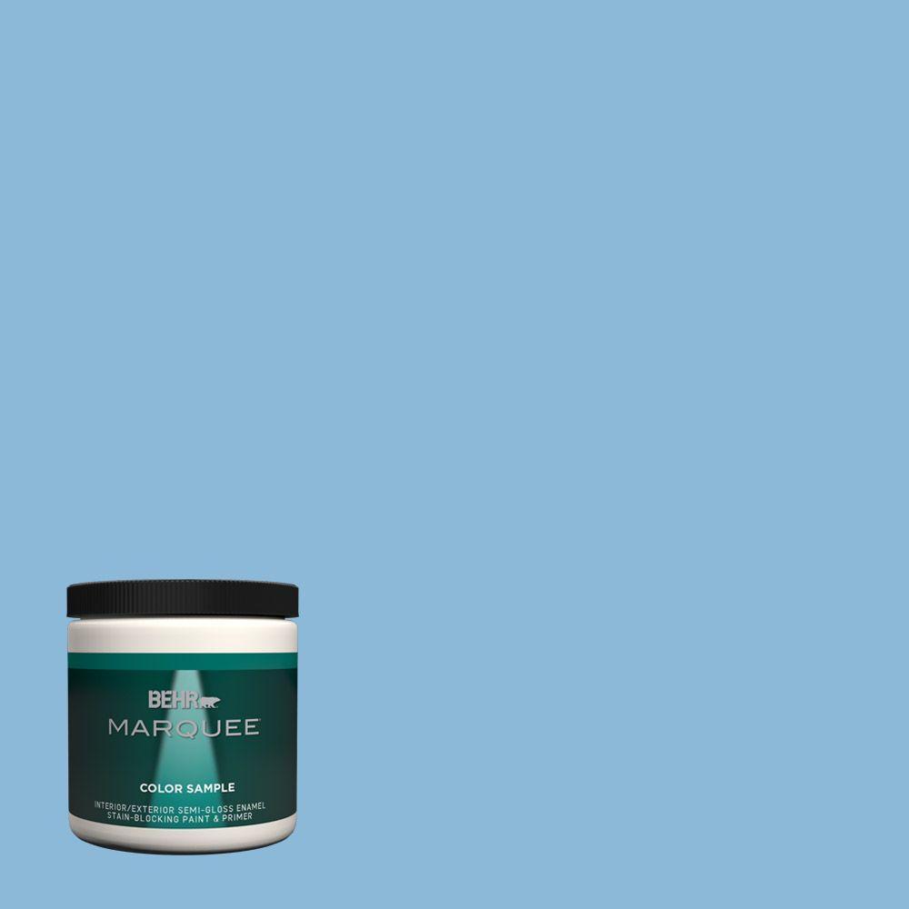 Behr Marquee 8 Oz Mq5 55 Simply Posh One Coat Hide Interior Exterior Semi Gloss Enamel Paint