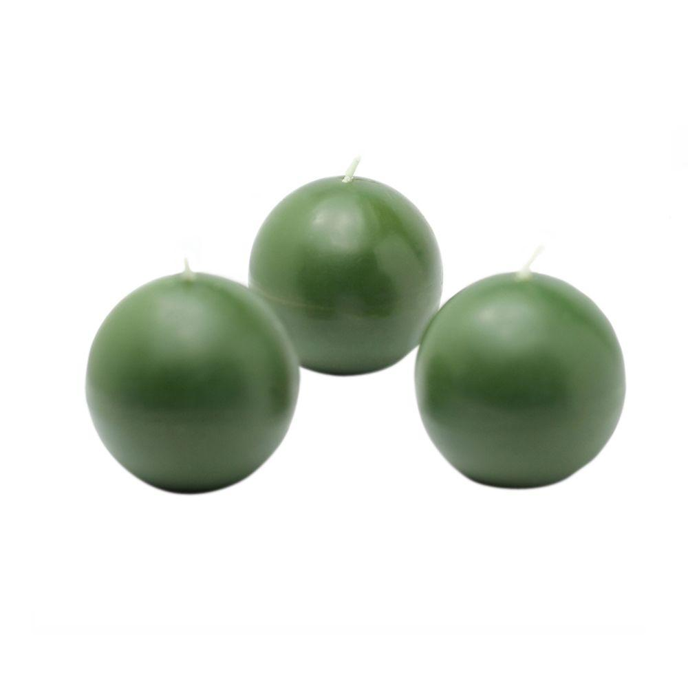 2 in. Hunter Green Ball Candles (Box of 12)