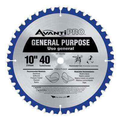 10 in. x 40-Tooth General Purpose Saw Blade