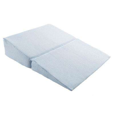 Memory Foam Pillow with Bamboo Fiber Cover Folding Wedge-Pillow in Blue