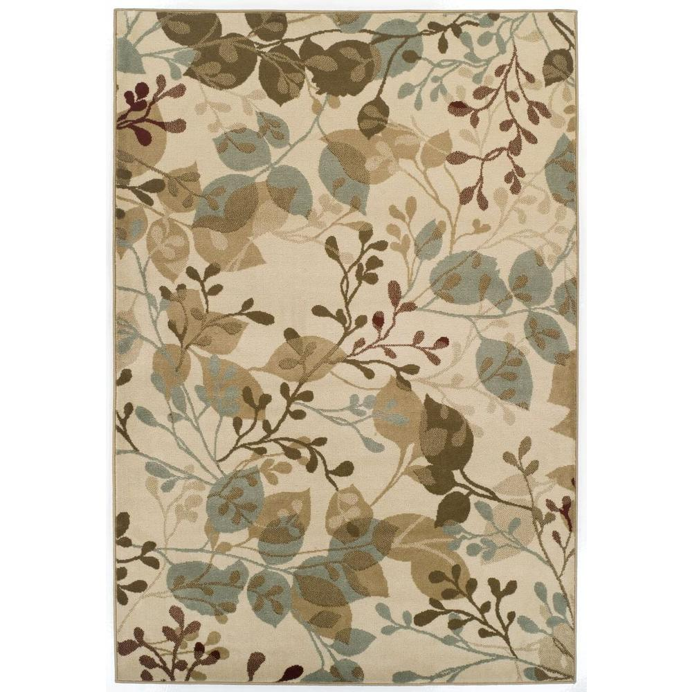 Achim Easton Ivory Delight 62 in. x 91 in. Area Rug