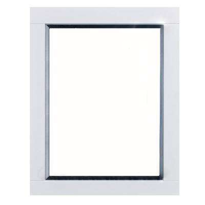 Aberdeen 24 in. W x 30 in. H Framed Wall Mounted Vanity Bathroom Mirror in White