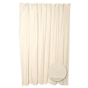 Zenna Home 70 inch W x 72 inch H Luxury Fabric Shower Curtain Liner in Taupe by Zenna Home