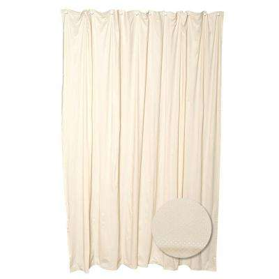 70 in. W x 72 in. H Luxury Fabric Shower Curtain Liner in Taupe