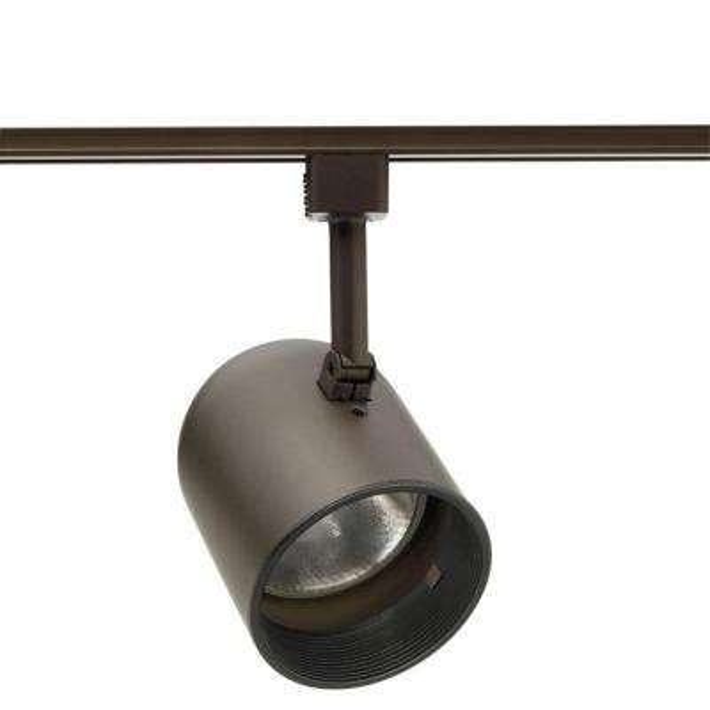 Trac-Lites Bronze Round-Back Cylinder Light with Black Baffle