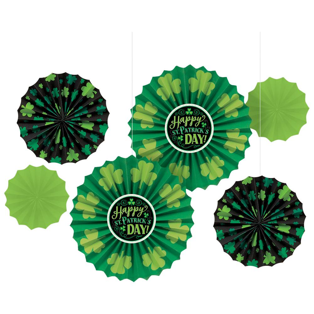 Amscan St Patrick S Day Paper Fan Decoration Assortment 6 Count 2 Pack