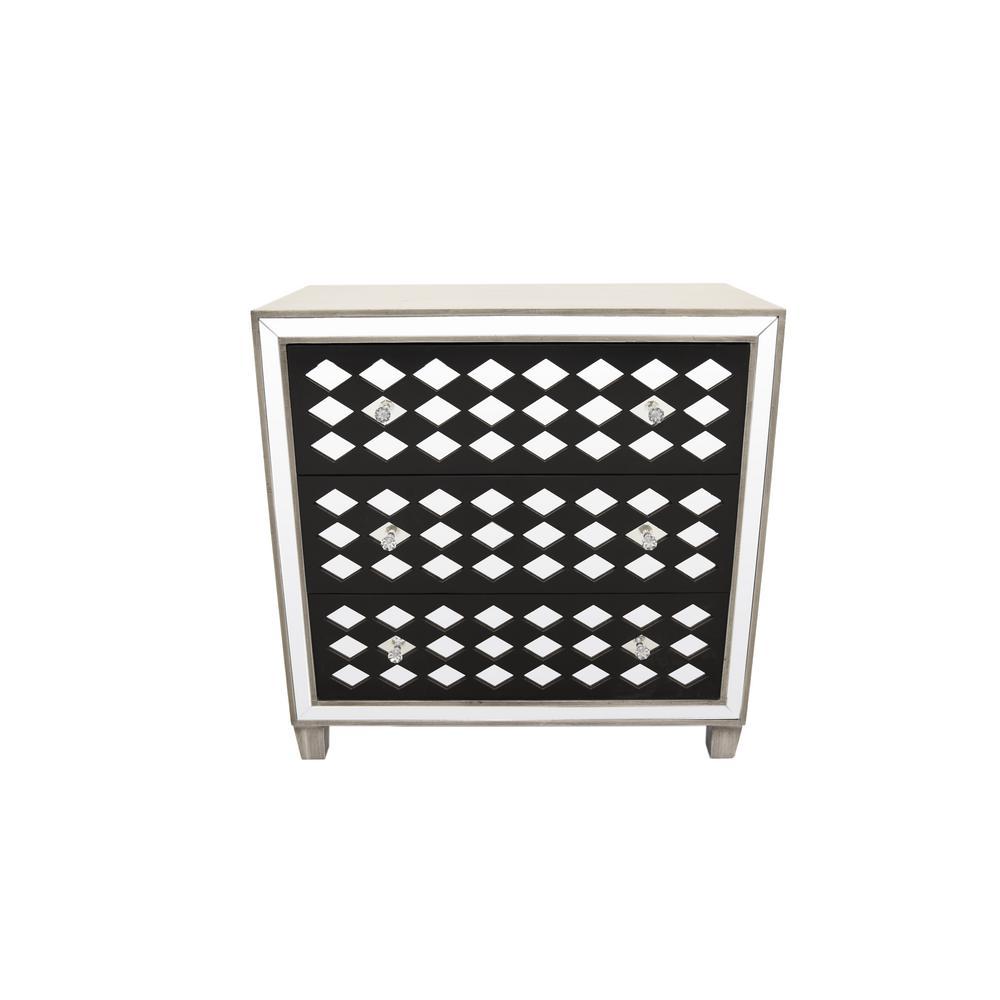 Black Wood/Mirror Cabinet