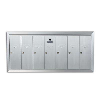 1250 Vertical Series 7-Compartment Aluminum Recess-Mount Mailbox