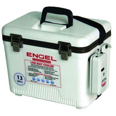 13 Qt. Livebait Cooler with Aerator in White