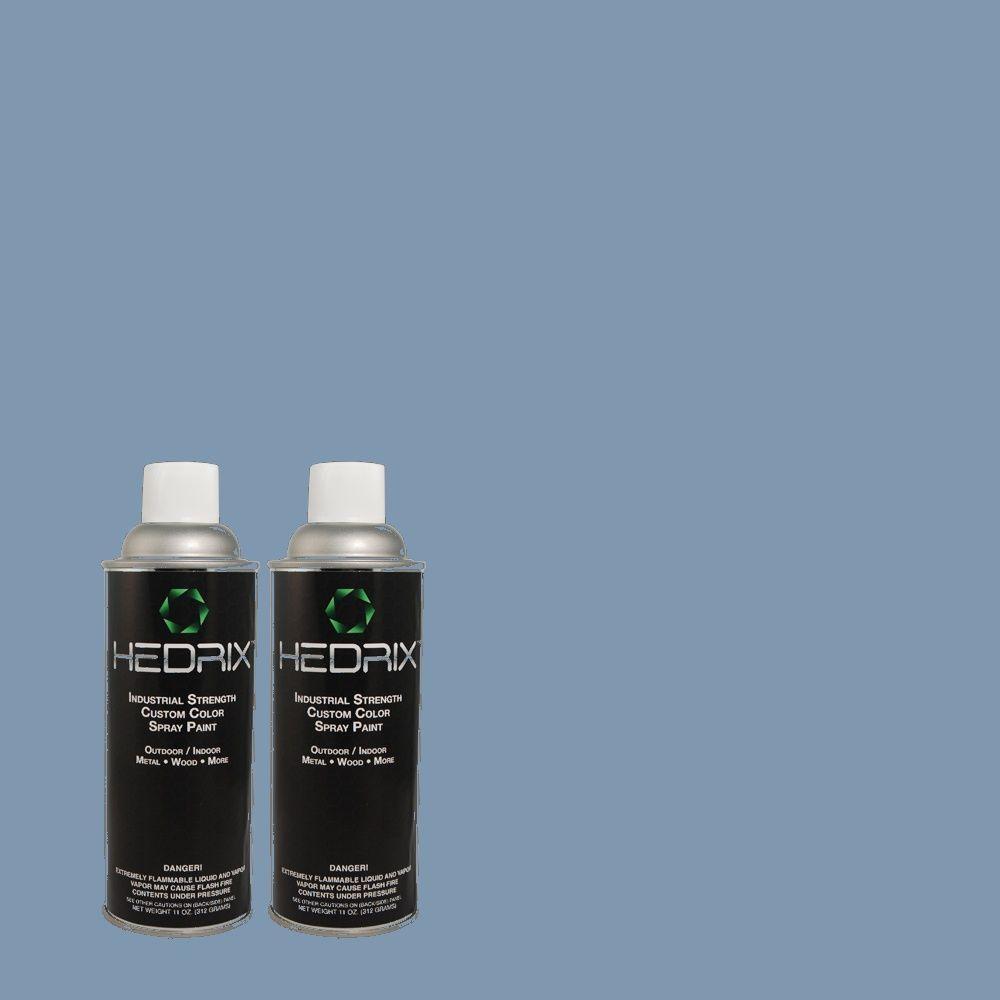Hedrix 11 oz. Match of MQ5-56 Empire Blue Flat Custom Spray Paint (2-Pack)