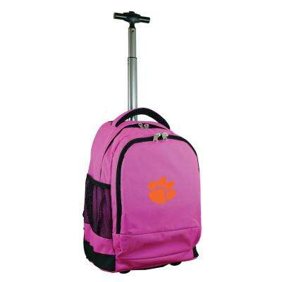 NCAA Clemson 19 in. Pink Wheeled Premium Backpack