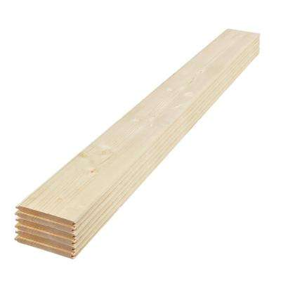 1 in. x 8 in. x 6 ft. Unfinished Pine Tongue and Groove Shiplap Siding Board (6-Pack)