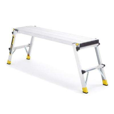 47 in. x 12 in. x 20 in. Aluminum Slim-Fold Work Platform with 250 lb. Load Capacity
