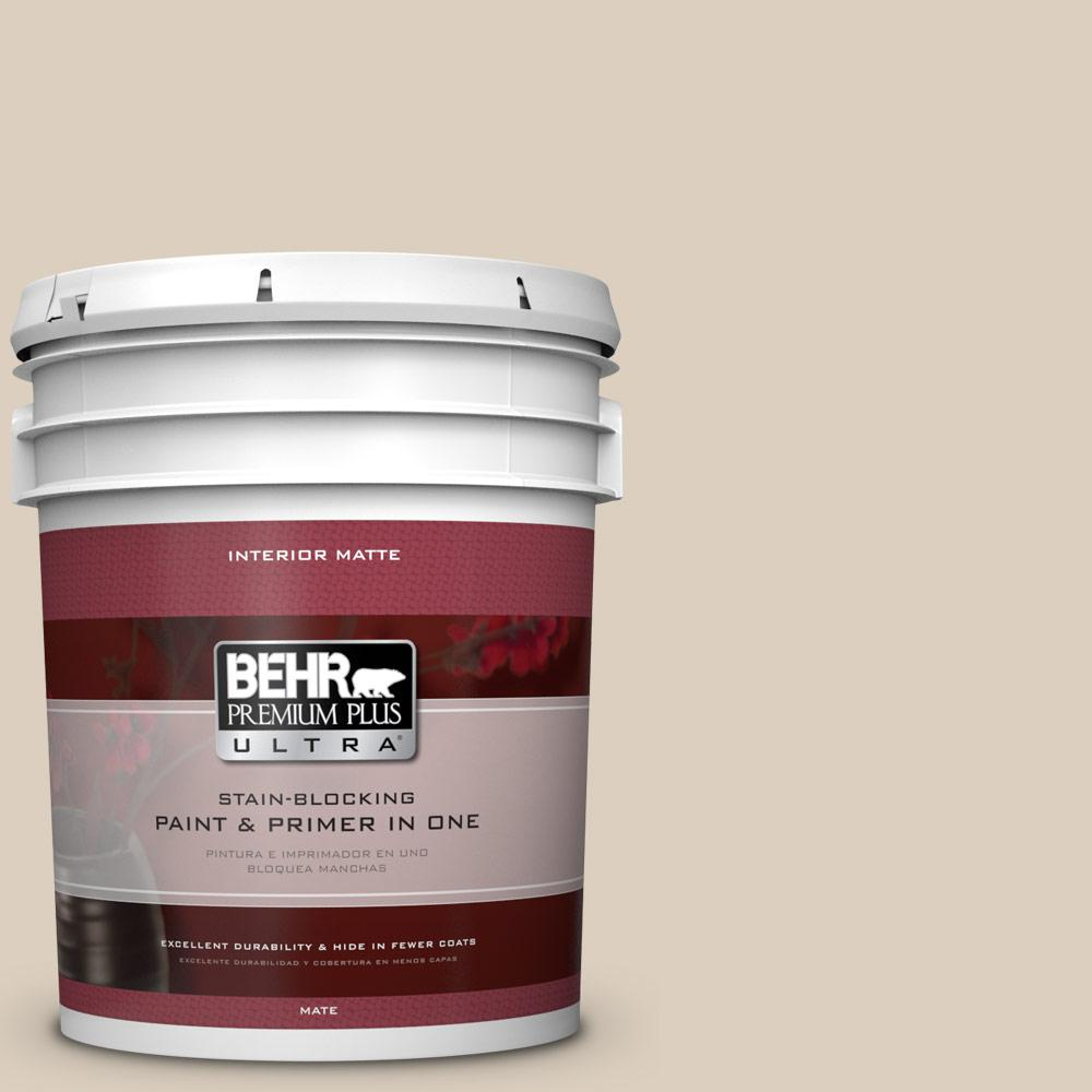 5 gal. #BWC-25 Sandy Clay Matte Interior Paint