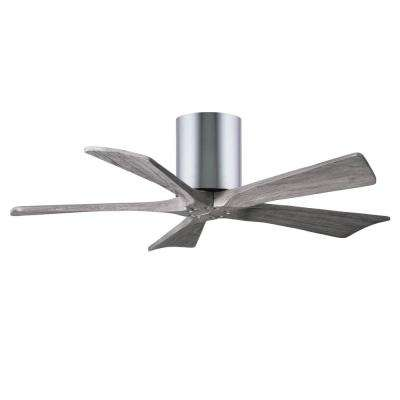 Irene 42 in. Indoor/Outdoor Polished Chrome Ceiling Fan With Remote Control And Wall Control