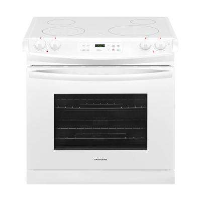 30 in. 4.6 cu. ft. Drop-In Electric Range with Self-Cleaning in White