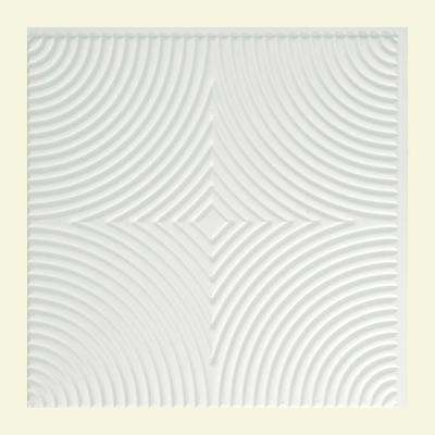 Echo - 2 ft. x 2 ft. Glue-up Ceiling Tile in Matte White