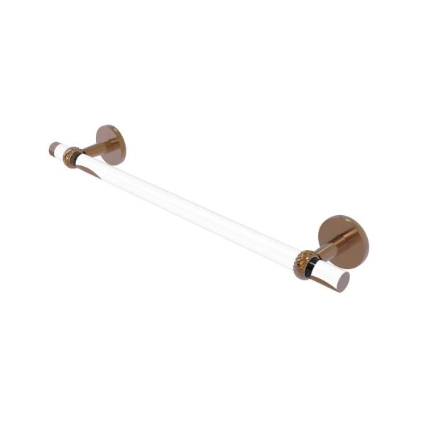 Allied Brass Clearview 30 In Towel Bar With Twisted Accents In Brushed Bronze Cv 41t 30 Bbr The Home Depot