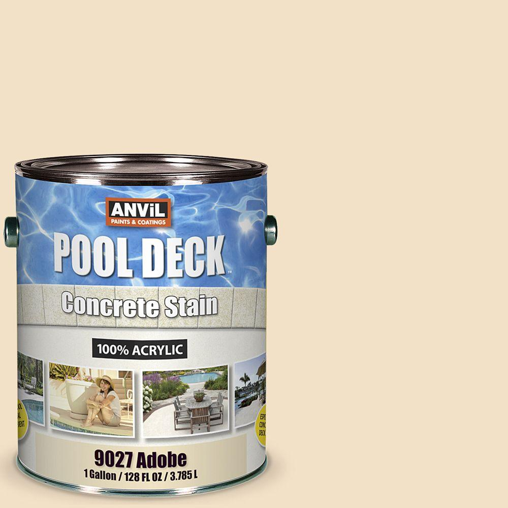 Adobe Pool Deck Concrete Interior Exterior Stain