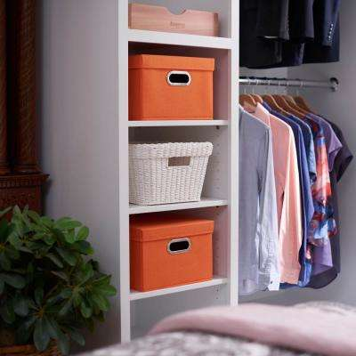 13 in. x 8 in. Tangarine Linen Bin Set (2-Pack)