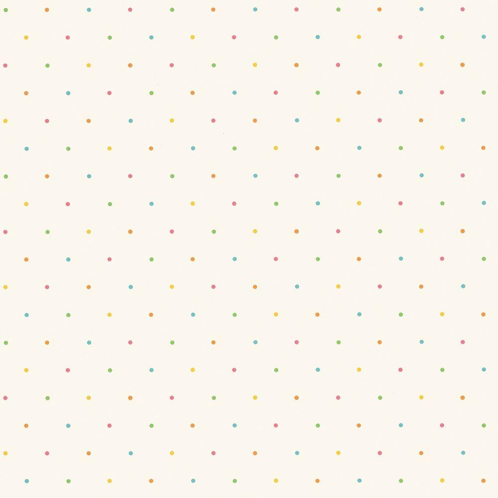 The Wallpaper Company 8 in. x 10 in. Pink Beach Dot Wallpaper Sample