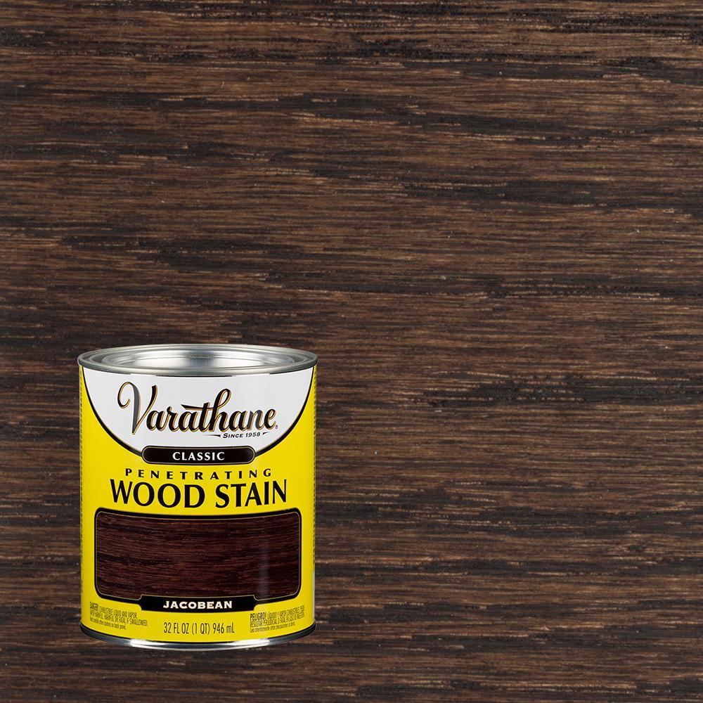 Varathane 1 qt. Jacobean Classic Wood Interior Stain-339722 - The ...