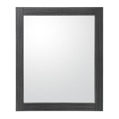 Griffith Park 24 in. W x 28 in. H Framed Wall Mirror in Black and Grey