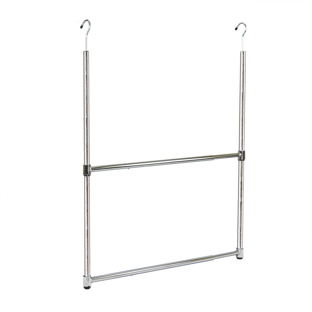Oceanstar 2-Tier Metal Portable Adjustable Closet Hanger ...