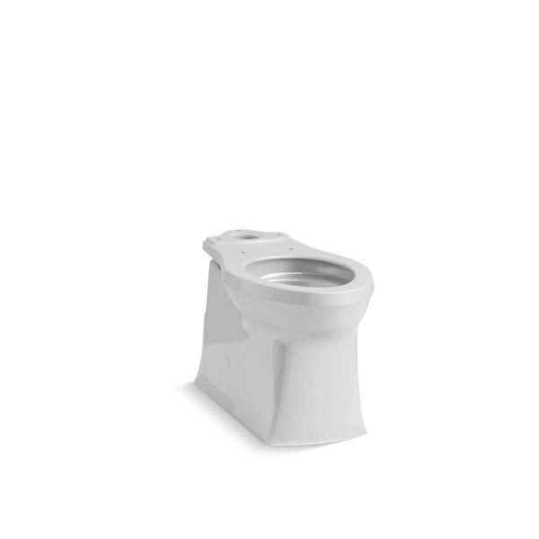 Corbelle 16.5 in. Skirted Elongated Toilet Bowl Only in Ice Grey