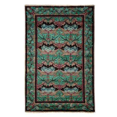 Arts Green 5 ft. x 8 ft. Indoor Area Rug