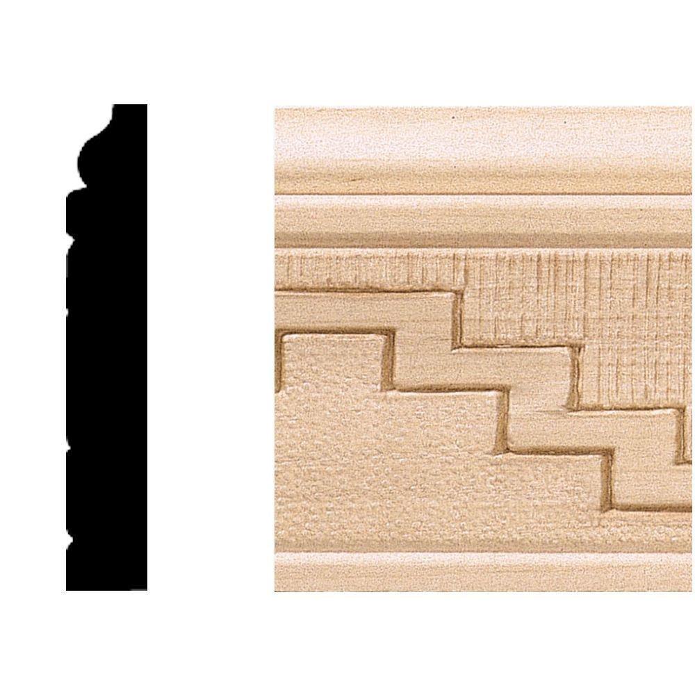 House of Fara 1/2 in. x 3 in. x 8 ft. Hardwood Base Moulding/Casing