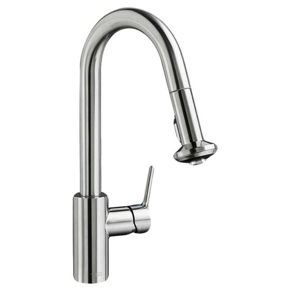 Memphis Single-Handle Pull-Down Sprayer Kitchen Faucet with 1.8 GPM in Stainless Steel