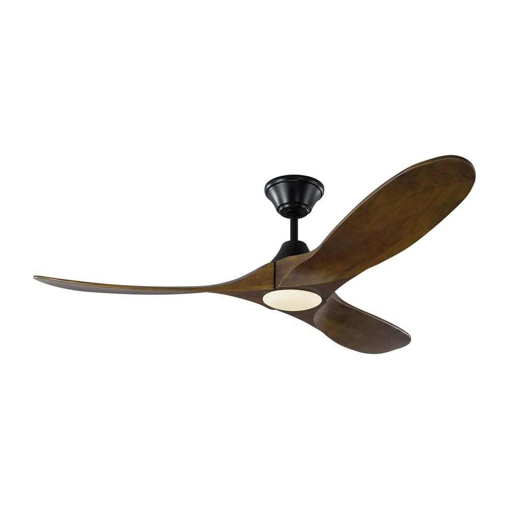 Monte Carlo Maverick Ii 52 In Integrated Led Indoor Outdoor Matte Black Ceiling Fan With Dark
