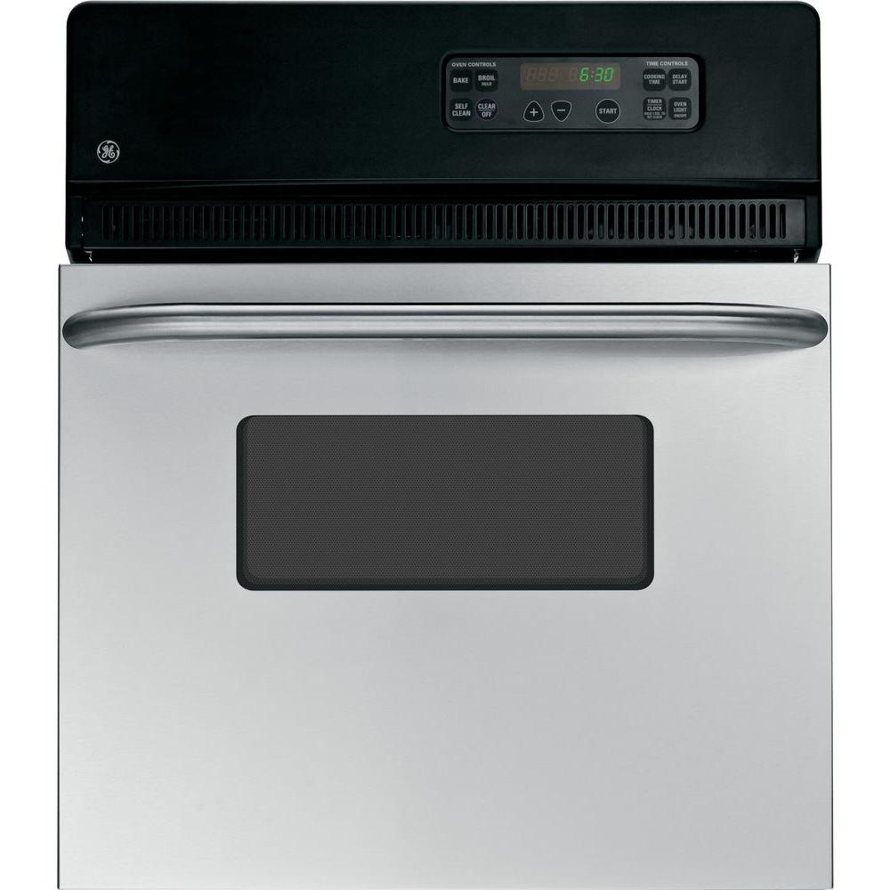 Ge 24 In  Single Electric Wall Oven Self-cleaning In Stainless Steel-jrp20skss