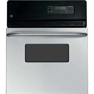 24 in. Single Electric Wall Oven Self-Cleaning in Stainless Steel