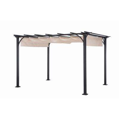 10 in. x 8 in. Beige Metal Naples Pergola