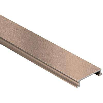 Designline Brushed Copper Anodized Aluminum 1/4 in. x 8 ft. 2-1/2 in. Metal Border Tile Edging Trim
