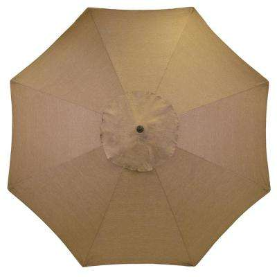11 ft. Aluminum Patio Umbrella in Saddle