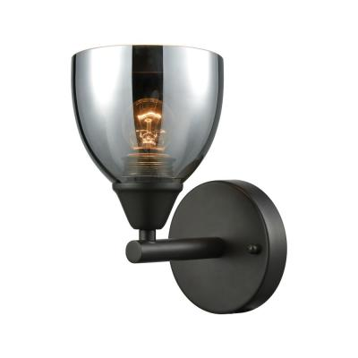 Reflections 1-Light Oil Rubbed Bronze with Chrome Plated Glass Bath Light
