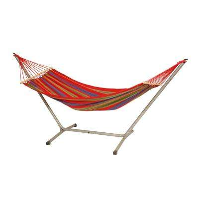 10 ft. 2 in. Poly/Cotton Blend Hammock with Stand
