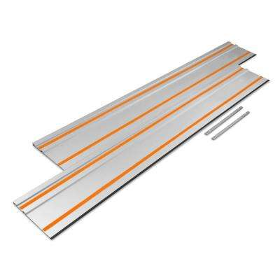 55 in. Track Saw Track Guide Rail with Adapters (2-Pack)
