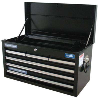 26 in. 6- Drawer Tool Chest in Black