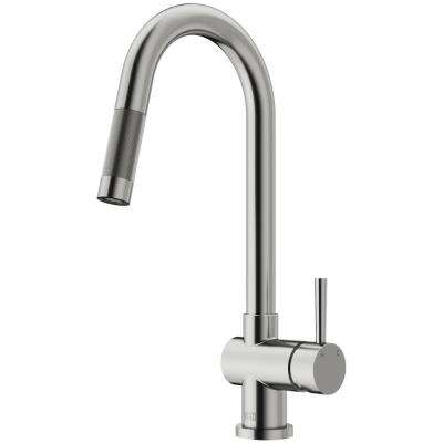 Gramercy Single-Handle Pull-Down Sprayer Kitchen Faucet in Stainless Steel