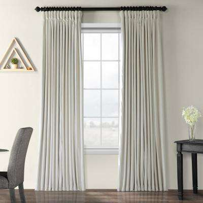 Blackout Signature Off White Doublewide Blackout Velvet Curtain - 100 in. W x 96 in. L (1 Panel)
