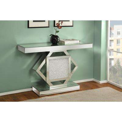 Nowles Silver and Mirrored Console Table