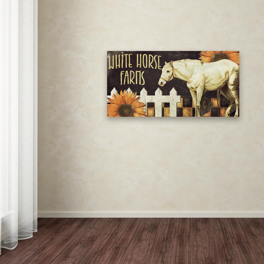"10 in. x 19 in. ""Horse"" by Color Bakery Printed Canvas"