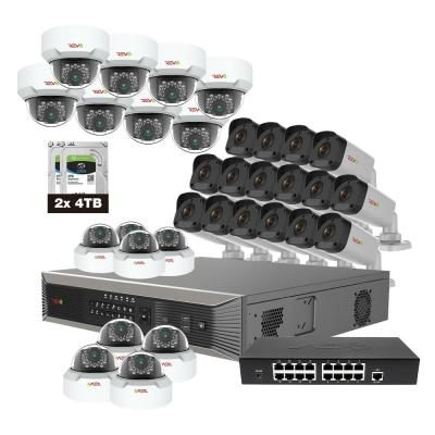 Revo Ultra Plus HD Commercial Grade 32-Channel 8TB NVR Surveillance System with 32 4 Megapixel Cameras 32 100 ft. CAT5E